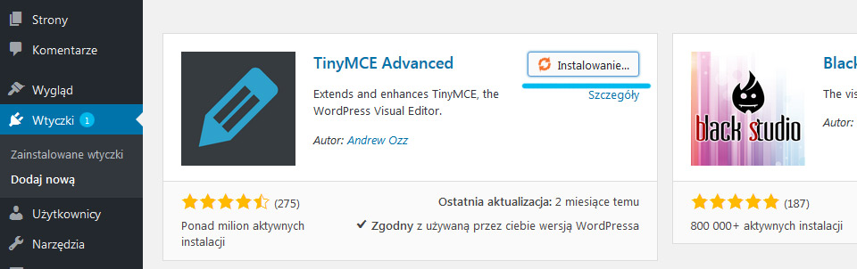 wordpress, tiny mce, advanced
